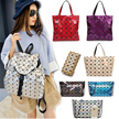 ★BUY 2 FREE SHIPPING★New Style Folding Geometric Laser Bags Handbag/Tote bag/Shoulder Bag/Backpack/Star bags/Laptop bag/Clutch/School Bag/Sling bags/Document Diamond Lattice Series Bags Leather Bag