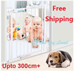 *75cm/100cm Height Safety Gate*Fit 57 to 300+cm*Europe Std*For Both Pets/Kids*Door Fence