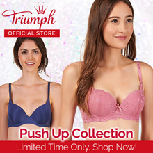 Triumph Everyday Basic Wired Non-Push Up Bra | Push Up Bra | T shirt Bra | Lacey | Multiple Colors |