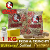 Buttered Salted Peanuts 500g/1KG!  Fresh Large Crunchy peanuts! Once you start you wont stop! Buttery sweet flavour. Up $15