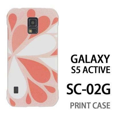 GALAXY S5 Active SC-02G 用『1215 コミカル雪結晶 灰』特殊印刷ケース【 galaxy s5 active SC-02G sc02g SC02G galaxys5 ギャラクシー ギャラクシーs5 アクティブ docomo ケース プリント カバー スマホケース スマホカバー】の画像
