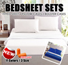 ★FREE EAR PLUG★ Super Affordable Bedsheet Set / Fitted sheet with Pillow Cases and Bolster Cases / Single / Queen / King Size / Premium Cotton / Soft to the touch materials