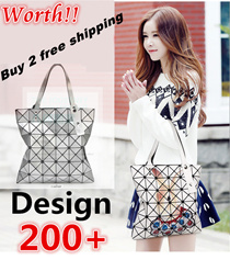 ❤BUY 2 FREE SHIPPING❤Stylish Rubik′s Cube Tote Bags for Lady◀GBA-Japan Fashion/ Geometric Patchwork /aLattice Diamond Bag/ Hangbags/backpack bag/