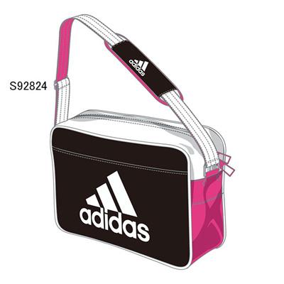 アディダス (adidas) エナメルショルダー S(ブラック×ピンク×ホワイト) Z7676-S92824 [分類:エナメルバッグ (小型)]の画像
