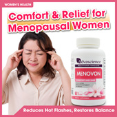 [MENOVON]★Hormone-free NATURAL herbal supplement★ Support Womens health★ Provide comfort ★ Restore Balance ★ Ideal for use during Perimenopause and menopause