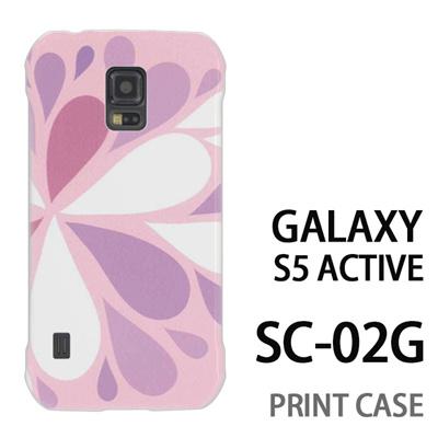 GALAXY S5 Active SC-02G 用『1215 コミカル雪結晶 ピンク』特殊印刷ケース【 galaxy s5 active SC-02G sc02g SC02G galaxys5 ギャラクシー ギャラクシーs5 アクティブ docomo ケース プリント カバー スマホケース スマホカバー】の画像