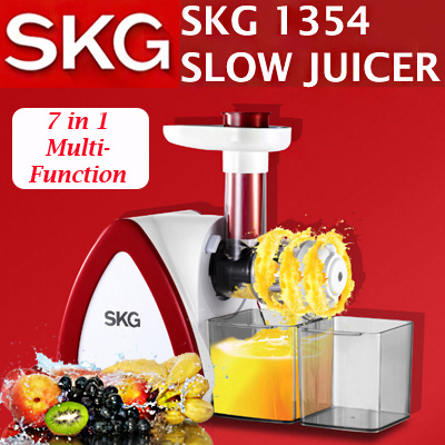 Primada Multifunction Slow Juicer : Qoo10 - [SKG] SKG 1354 Slow Juicer 7 IN 1 Multi Function - Noodle Maker/Meat G... : Home Electronics