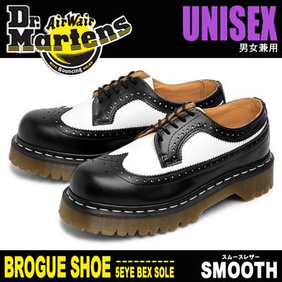 ドクターマーチン 3989 5アイブローグシューズベックスソール DR.MARTENS 3989 5EYE BROGUE SHOE BEX SOLE ウイングチップ コンビレザー ブーツの画像