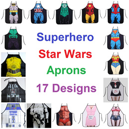 Superhero Apron / Avenger / Star Wars / Sexy Lady / Christmas Gift / Mother / Father / Super Hero / Creative / Kitchen Cooking / Art / Cosplay / Costume / Marvel / Halloween / Party / Action / Wedding