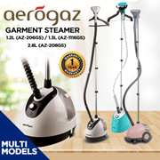 Aerogaz Garment Steamer 1.2L (AZ-206GS) / 1.3L (AZ-1116GS) / 2.8L (AZ-208GS) / 1 Year Warranty