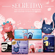 [Secret Day]KOREA No.1 Sanitary Pad/130 Qty/Sanitary Napkins/cotton feeling secret cover/Used for 3 months/M size 16p x5packs+ultra wing over 10p+Cotton cover common liner 20p x2pack/FDA Accreditation