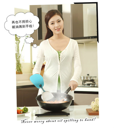 Qoo10 kitchen innovative anti oil spilled spatula set for Qoo10 kitchen set