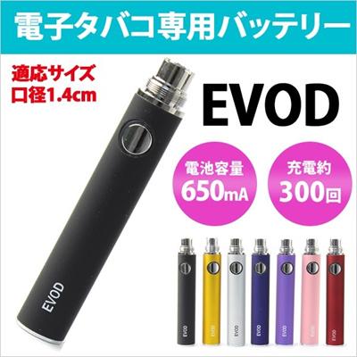 送料無料 電子タバコ バッテリー EVOD 約300回 充電可 650mA 電池寿命 約6ヶ月 充電池 Vape ego-t ego-c 電子たばこ リキッド フレーバー 禁煙 ER-TB2[ゆうメール配送][送料無料]の画像