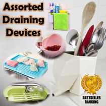 [HOME KITCHEN IMPROVEMENT] Assorted Drainer * Baskets Trays Containers * Kitchen Accessories *Cutlery Holder * Elephant Drainer * Draining Board * Extendable Draining Tray * Tools Keeper *