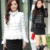 【KL151】韓国ファッション 暖かく着用いただける 高品質 ダウン・ジャケット・コート特集/ たっぷり詰めた ダウンコート【グースダウン】★グースダウンを綿として使用して「軽さ」「あたたかさ」を体感していただけます。バイカラーをアウターでも取り入れて♪