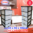 [804] TOYOGO - PLASTIC STORAGE CABINET/DRAWER WITH WHEELS (4 TIER / 5 TIER OPTIONS AVAILABLE)(SG50)