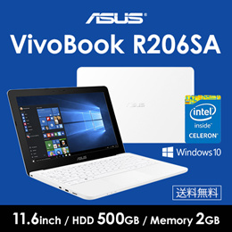 ASUS VivoBook R206SA R206SA-FD0029T [ホワイト] ノートパソコン / Windows 10 / 11.6インチ/ Celeron N3050 / 2G /