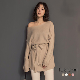 TOKICHOI - U shaped Multi-color  Tie-up  Top-182096-Winter
