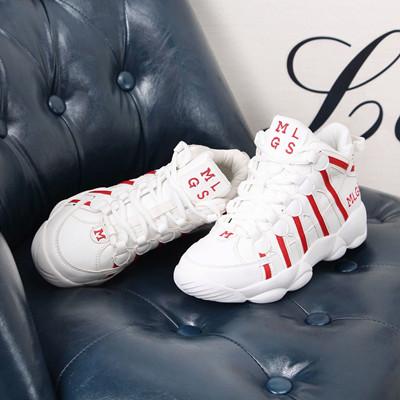 新品 *コネコ* 韓国Style カップル スニーカー 恋人靴 男女兼用 男靴 靴レディース スニーカーレディース  靴 ハイカットスニーカー 白スニーカー  厚底 スニーカー