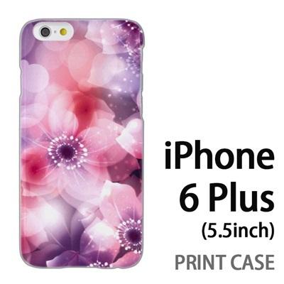 iPhone6 Plus (5.5インチ) 用『0116 きらきら花びら ピンク』特殊印刷ケース【 iphone6 plus iphone アイフォン アイフォン6 プラス au docomo softbank Apple ケース プリント カバー スマホケース スマホカバー 】の画像