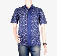 Top Men / Shirt / Hem Batik Motif Daun Hati | 4 Colors | ML XL