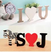 [Black] Letter Initial Wood]Alphabet wood/Home decoration Wood/ Letter Initial Wood /Mad