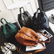 Four Way Versatile Handle Bucket Bag /haversack/ totebag/workingbag/ladiesbag 8255 [ Geraldine.sg ]