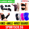 ⏰⚡Premium Sports Protection Guard ☘ Ankle Guard ☘ Knee Guard ☘ Wrist Band ☘ Gloves ☘ Free Shipping ☘