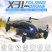 SY X31/S6 Mini Aircraft Folding Aircraft Drone Radio Control Toys Mini Helicopter 2.4G 4CH 3D Roll Foldable RC UFO Aircraft wtih Light