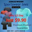 $9.90 Today only! Lady Fitted Tee Sportswear - IONICWEAR Sport wear Anti odour Dry fit