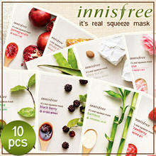 CHEAPEST ON QOO10!10 PIECES MASKS KOREA Innisfree Its Real Squeeze Mask 100% Authentic - Fresh Stock
