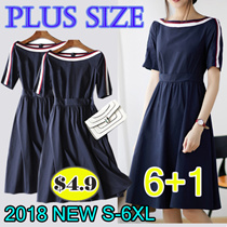 2018 New Summer Korean Ladies Fashion Dress Plus Size Collection /Dress /Blouse/