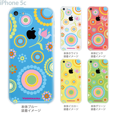 【iPhone5cケース】【iPhone5cカバー】【iPhone 5c ケース】【スマホケース】【クリア】【クリアケース】【イラスト】【フラワー】【vuodenaika】 21-ip5c-ne0007caの画像
