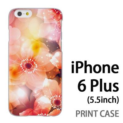iPhone6 Plus (5.5インチ) 用『0116 きらきら花びら 橙』特殊印刷ケース【 iphone6 plus iphone アイフォン アイフォン6 プラス au docomo softbank Apple ケース プリント カバー スマホケース スマホカバー 】の画像