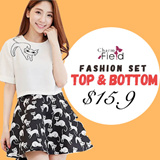 【GSS HOT SALE】Top and Bottom Set Fashion Set UK/Korea Set Dress And Top Over 150 Designs Buy 2 Free Shipping High Quality Lowest Price Offer