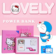 Lovely Gift Set▶Hello Kitty*Doraemon Powerbank Gift Set◀Light Weight n Slim Cute Design/ Easy to Use
