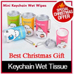 ◆Christmas Gift◆Pure RO Water Wet Wipes Tissue with Mildly Aloe vera◆Mini Bottle wet tissue/Key chain wet tissue/ Thick wet wipes