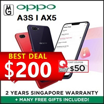 Oppo A3S 3/32GB I AX5 3/64GB Local 2 Years Warranty  / Cases and Screen Protector Included