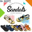★ 1-DAY-ONLY ★ [CNY SPECIAL] Dr. Scott Unisex Sandals Pods Sandals / Comfort Sandals / Contoured Footbed / Vegan Sandals