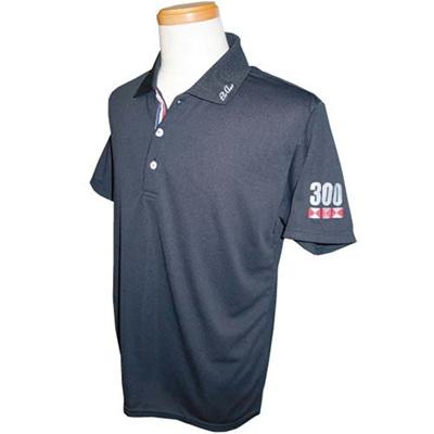 アメリカンボウリングサービス(ABS) トリコロールテープポロ AW-1409 ブラック 【ユニセックス ボウリングウェア ボーリング 半袖シャツ】の画像