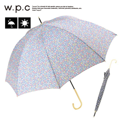 ワールドパーティー w.p.c フローラルプチチェック 晴雨兼用 長傘 雨傘 日傘 レディース 1076-04の画像