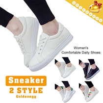 ☆Comfortable◆Stylish PU Leather Sneakers for Women◆Simple White Color Shoes for Lady/ Comfortable Daily Fashion Shoes/ 2 styles/ 35~40/ T209 model