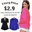 【SG Delivery】【Festival Sale Lowest Price】New Arrived Chiffon Top Dress Chiffon Dress Blouse Skirt Midi Skit  T-Shirts Plus Colorful Fashion Size 40 Design Limited time offer