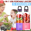 Portable and Automatic! Fruit Juicer Extractor / Shaker Bottle /Shaker / USB Charging Blender Bottle