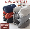 NECK PILLOW / TRAVEL NEEDS / MUJI INSPIRED IN FLIGHT PILLOW / TRAVEL ACCESSORIES / IN FLIGHT PILLOW / 100% FULL COTTON / READY STOCK SINGAPORE SELLER FAST DELIVERY!