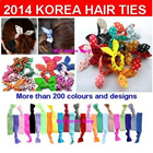 *$0.19 up*Buy 10 Free 1*Korean Style*Hair Accessories*Fashion Elastic Hair Ties *Rubber Hair Bands*Candy Colors/Colorful/Printed/Tie-dye/Glitter Hair Ties*