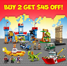 Lego Duplo /Technic/Starwars/Angry Bird/City/Jurassic Park/DC Comics Super Hoeros - Bigger Set