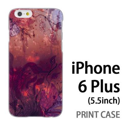 iPhone6 Plus (5.5インチ) 用『0116 水底 赤』特殊印刷ケース【 iphone6 plus iphone アイフォン アイフォン6 プラス au docomo softbank Apple ケース プリント カバー スマホケース スマホカバー 】の画像