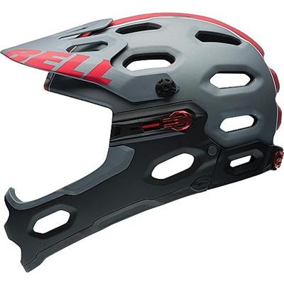 ベル(BELL) ヘルメット SUPER 2R / スーパー 2R ALL-MOUNTAIN マットチタニウム/レッドバイパー 【自転車 サイクル レース 安全 二輪】の画像