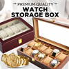 [Festive SALE]★ 5/6/8/10/12/20/24 Slots Display Storage Box for Watches